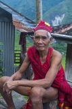 Ifugao ethnic minority in the Philippines. BANAUE, PHILIPPINES - MAY 02 : Portrait of a man from Ifugao Minority in Banaue the Philippines on May 02 2018. The Royalty Free Stock Photos