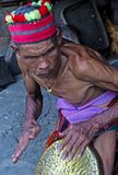 Ifugao ethnic minority in the Philippines. BANAUE, PHILIPPINES - MAY 02 : Portrait of a man from Ifugao Minority in Banaue the Philippines on May 02 2018. The Stock Photos