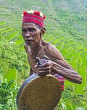 Ifugao ethnic minority in the Philippines. BANAUE, PHILIPPINES - MAY 02 : Portrait of a man from Ifugao Minority in Banaue the Philippines on May 02 2018. The Royalty Free Stock Images