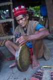 Ifugao ethnic minority in the Philippines. BANAUE, PHILIPPINES - MAY 02 : Portrait of a man from Ifugao Minority in Banaue the Philippines on May 02 2018. The Royalty Free Stock Image