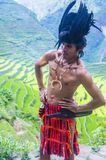 Ifugao ethnic minority in the Philippines. BANAUE, PHILIPPINES - MAY 02 : Portrait of a man from Ifugao Minority in Banaue the Philippines on May 02 2018. The Stock Images