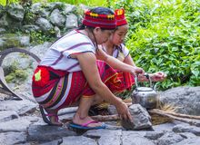 Ifugao ethnic minority in the Philippines. BANAUE, PHILIPPINES - MAY 02 : Women from Ifugao Minority in Banaue the Philippines on May 02 2018. The Ifugao Royalty Free Stock Photos