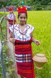 Ifugao ethnic minority in the Philippines. BANAUE, PHILIPPINES - MAY 02 : Women from Ifugao Minority near a rice terraces in Banaue the Philippines on May 02 Stock Image