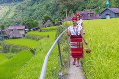 Ifugao etnisk minoritet i Filippinerna royaltyfria bilder