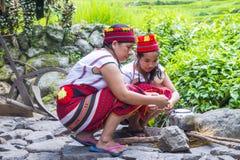 Ifugao etnisk minoritet i Filippinerna arkivfoto