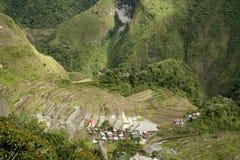 Ifugao Reis-Terrassen batad stockbild