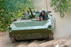 IFV BMP-1. Desna, Ukraine - June 02, 2011. IFV BMP-1 during the training driving Stock Image