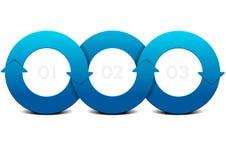 IG_circles3_arrows Royalty Free Stock Photography