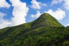 Igła szczyt pod niebieskim niebem Obrazy Royalty Free