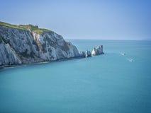 Igły rockowa formacja na wyspie UK Wight Anglia Obrazy Royalty Free