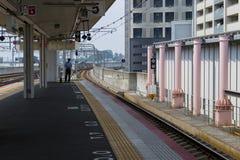 Iga Ueno - Japan, June 1, 2017: Empty modern train station at Ig Royalty Free Stock Images