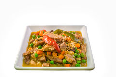 Igado, Filipino dish made with pork tenderloin side view Royalty Free Stock Images