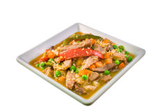 Igado, prato filipino feito com lombinho de carne de porco fotos de stock royalty free