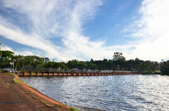 Igapo Lake Dam stock photography