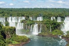 Igauzu vattenfall, Brasilien Arkivfoto