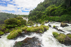 Igauzu waterfall, Brazil Royalty Free Stock Image