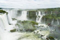 Igauzu waterfall, Brazil Royalty Free Stock Images
