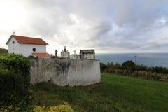 Igeldo kyrkogård i San Sebastian arkivbild