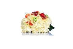 Igeles von Blumen auf einem lokalisierten weißen Hintergrund Lizenzfreie Stockfotos