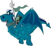 Igelkott drakeryttaren royaltyfri illustrationer