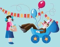 Igen födelsedag! - farsan har födelse fotografering för bildbyråer