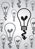 Ight bulb idea in illustration Stock Images