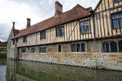 Ightham Mote. A moated house located near Sevenoaks, England UK. Beautiful building showing lovely timber cladding Royalty Free Stock Image