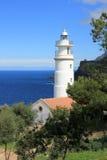 Lighthouse es faro. Ighthouse es faro porto de soller Royalty Free Stock Photo