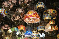 Ights για την πώληση στο μεγάλο Bazaar στη Ιστανμπούλ Στοκ Εικόνες