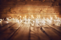 Ights on wooden rustic background Stock Photo