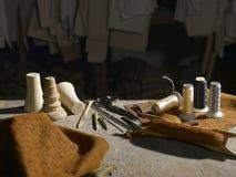 igieł nożyc szwalna cewy tekstury nić threaded narzędzia Fotografia Stock