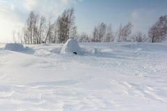 Iglú que se coloca en un claro nevoso Imagenes de archivo
