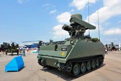 IGLA (机械化)在新加坡Airshow集成了射击部队(IFU)在显示的地对空导弹平台 免版税库存图片