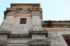 Iglesia圣佩德罗火山卡塔赫钠哥伦比亚en el centro historico 免版税库存照片