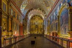 Iglesia圣克拉拉La坎德拉里亚角波哥大哥伦比亚 免版税库存图片
