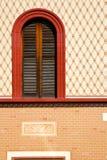 Iglesia óptica de la ventana color de rosa de Varese del abbiate Imagen de archivo libre de regalías