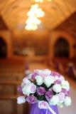 Iglesia adornada para una boda Fotografía de archivo