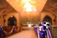 Iglesia adornada para una boda Imagen de archivo