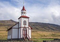 Iglesia al este del ³ kur, Islandia 4 del rkrà del ¡de Sauðà Fotografía de archivo libre de regalías