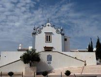 Iglesia Albufeira Portugal de la anecdotario del ` de Sant Imágenes de archivo libres de regalías