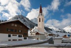 Iglesia alpina Foto de archivo libre de regalías