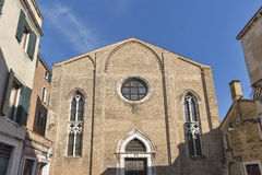 Iglesia antigua de San Gregorio en el distrito de Dorsoduro, Venecia, Italia fotos de archivo libres de regalías