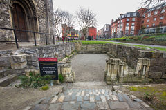 Iglesia antigua Dublín de Cristo de las ruinas Imagen de archivo libre de regalías