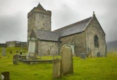 Iglesia antigua escocesa en la isla de Harris St Clement escocia U Imágenes de archivo libres de regalías