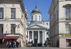 Iglesia apostólica armenia de St Catherine en la perspectiva de Nevsky St Petersburg Fotografía de archivo libre de regalías