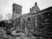 Iglesia arruinada Heptonstall Fotografía de archivo libre de regalías