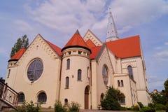 Iglesia, Augsburg evangélica Imagen de archivo libre de regalías