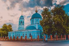 Iglesia azul Imagenes de archivo
