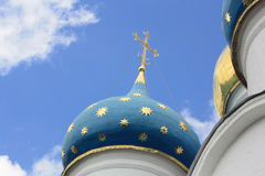 Iglesia azul de la azotea Fotos de archivo