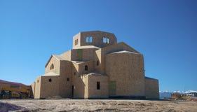 Iglesia bajo construcción imagen de archivo libre de regalías